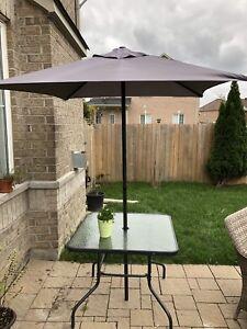 6PCS Bistro Set Garden Backyard Table Chairs