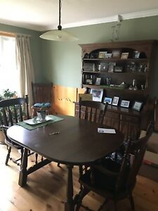 Dining Room Table and 6 chairs with China. Cabinet