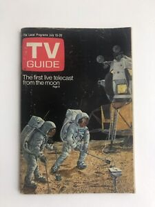 TV Guide July 19-25 1969 Live From the Moon