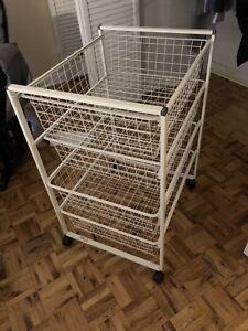 Ikea white basket unit x 4