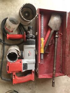 Milwaukee core drill with bits