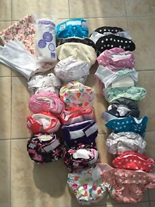 Couches lavables lot Omaïki 22 cloth diapers