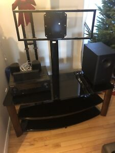 Tv stand and surround sound