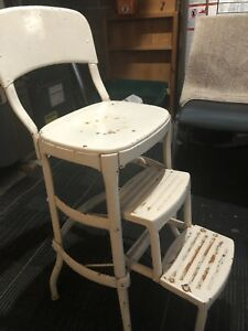 Vintage kitchen counter chair/step stool