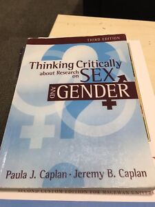 Thinking critically about research on sex and gender 3rd ed