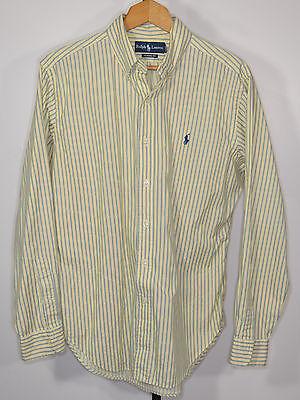 Men's Ralph Lauren Polo - Medium - Long Sleeve – Button Front Shirt - Cotton