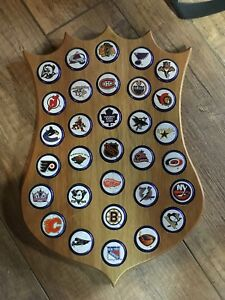 Labatt Blue NHL beer cap plaque