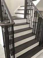 STAIR STAINING & REFINISHING (STEPS,POSTS,RAILINGS)