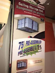 2 Rangements de garage au plafond