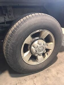 Set of third gen 8 bolt rims and tires