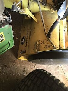 John deer mower snow blower attachment and tire chains