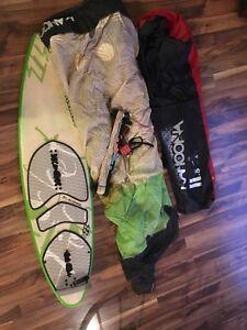 Kiteboard Board, Kite And Bars