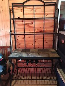 Bakers wine rack/ sofa table/ coffee table/ 2 end tables