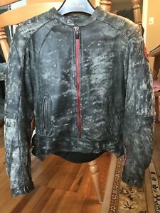 Women's Leather Motorcycle Jacket Speed & Strength SM *like new*