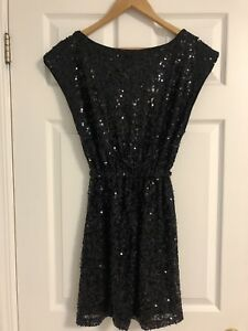 Black Sequin Party Dress - Small