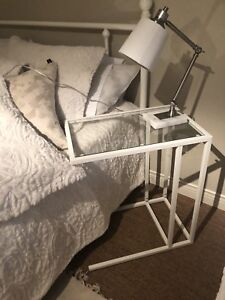 Two 2 End tables, night stand, laptop table