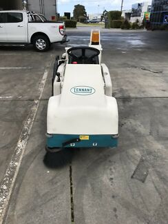 Tennant's 6100 Sub-Compact Ride-on Sweeper is quiet, battery powered