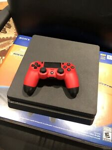 OPEN BOX BRAND NEW PS4 with red controller