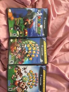 Mario Golf and Super monkey Ball 1 and 2