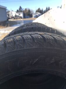 4 new studded winter tires