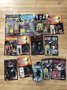 Collection of cool action figures - Star Trek, Pulp Fiction