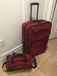 "Roots 27"" luggage and carry on set"