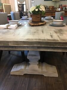 Rustic Solid Maple Dining Table. Brand New