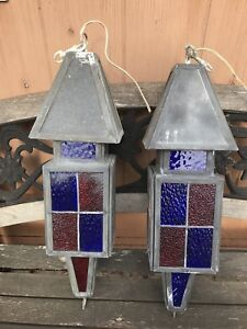 Hand made stained glass lanterns