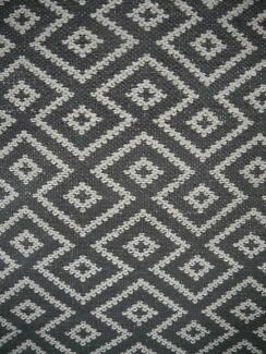 New Large Mos International Maldives Grey Geometric Wool Rugs