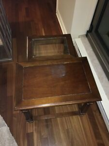 Pair of nesting  end tables.