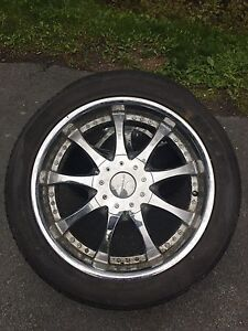 "4 22"" rims and tires $300"