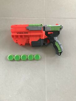Wanted: NERF VIGILON disc blaster with 10 discs