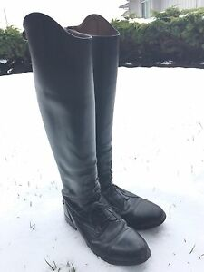 Tall, leather riding boots
