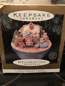 Hallmark Victorian Toy Box Christmas Ornament Lights And Motion