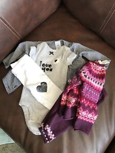 NB and 0-3 month girl clothes