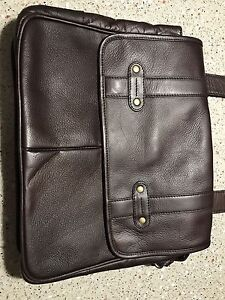 New/Never used Bugatti men's leather messenger bag (brown)