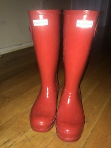 Hunter boots size 5 boys - 6 girls $70 or best offer
