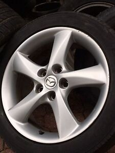 """4 mags 2004 MAZDA6 Sport  215/50R17 tires 17""""wheels"""