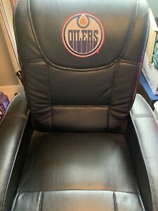 Leather Oilers recliner for sale