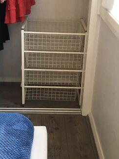 4 tier wire storage drawers