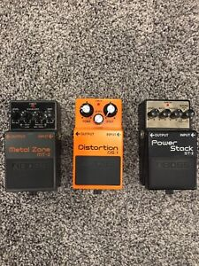 Boss electric guitar effect pedals