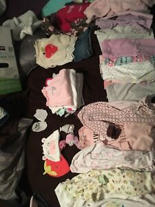 Large 0-3 month baby girl lot