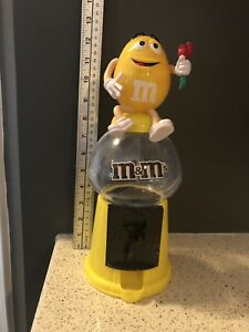 M&Ms Yellow Sweet Dispenser with roses