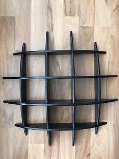 Black display shelves