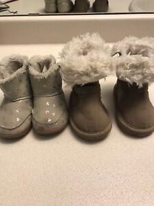 Infant girl booties size 4