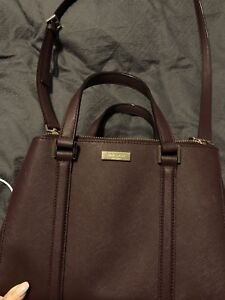 Maroon cross body Kate spade purse