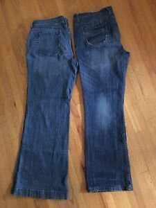 2 pairs size 14 ladies jeans $5 for both