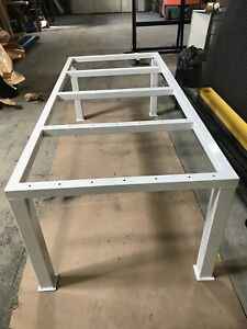 Heavy duty custom made work benches and table base for sale