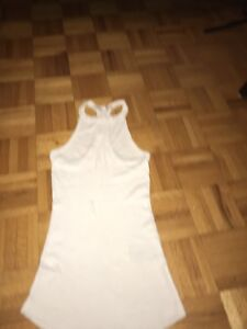 Guess white cotton stretch halter top