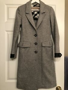 Burberry Brit Classic wool and cashmere Trench Coat .